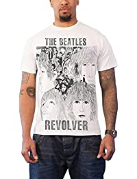 The Beatles T Shirt Revolver Band Logo Official Mens Slim Fit Sub Dye