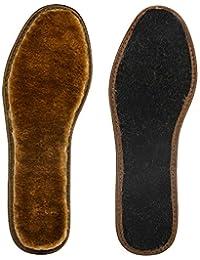 Plantillas de lana gruesa, plantillas de lana cálidas y cómodas contra el frío invierno, plantillas de desodorante de carbón de bambú con almohadillado marrón