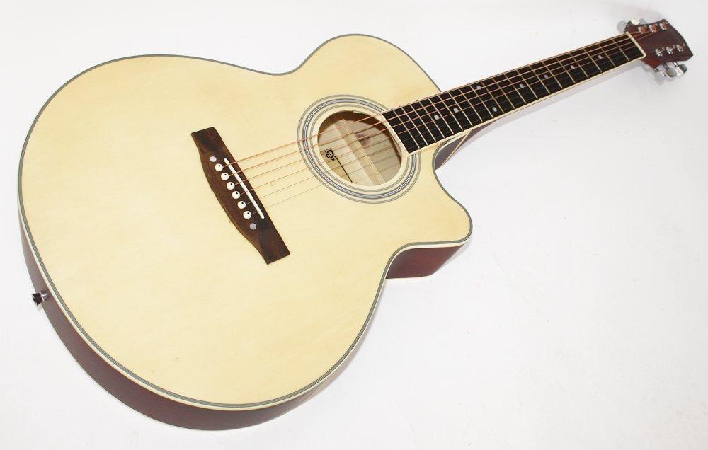 cherrystone guitare folk avec pan coupe naturel