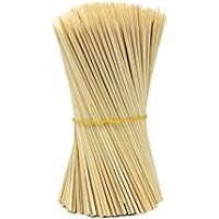 lumanuby 90x pinchos de barbacoa de palos de madera, utensilios de barbacoa desechables de bambú fiesta de incienso, perfecto para carne para barbacoa, carnes mucho más (15cm)