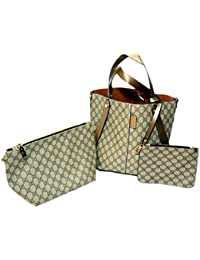 3 Pieces High Quality Hand And Shoulder Bag-Handbag, Sling Bag And Pouch