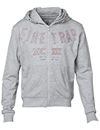 Boys Firetrap Zip Up Hoodies (Grey) 12-13 Years