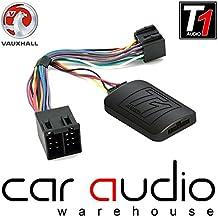 Adaptador de interfaz de control para volante de coche con cable de conexión gratis T1Audio T1-VX1–Opel Astra G, Omega, Aglia, Meriva, Vivaro Zafira A, Vectra B/C, Corsa C, Corsa Combo Van Vivaro Furgoneta Coche