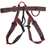 Half Body Safety Sit Harness Belt Heavy Duty Fall Protection Equipment For Outdoor Rock Tree Climbing Rappelling Rescue