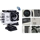 Full HD 1080p Waterproof Sports Action Camera 2 inch Car DVR H.264 12 Mega Underwater 30M Video Camera 120 Degrees Wide-Angle Lens camera (White)