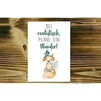 Einzigartige Postkarte mit süßem Aquarell-Fuchs und tollem Spruch für jeden Anlass