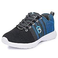 Bourge Boy's Grey and Sky Running Shoes-12 UK (33 EU) (13 Kids US) (Orange-08)