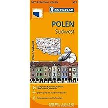 Michelin Polen Südwest: Straßen- und Tourismuskarte 1:300.000 (MICHELIN Regionalkarten)