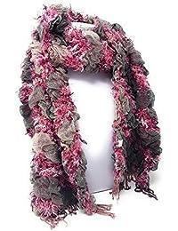 1e3a15791ef Ladies Women 3D Stripe Ruched Ruffle Bubble Scarf - 9 Colours