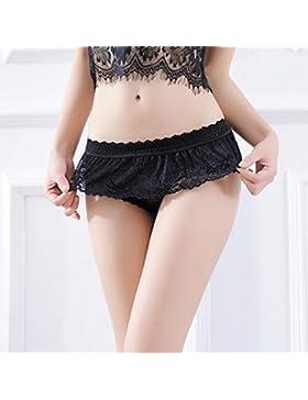 Moda Mujer Sexy Bragas de encaje falda torta sexy ropa interior Dama Mujer Intimates Lace Cuecas das Senhoras...