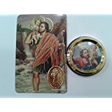 Coche Imán San Cristóbal con Oración Tarjeta
