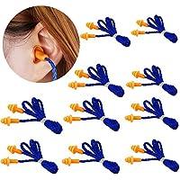 MINGZE Tapones para los oídos Reutilizables de Silicona Suave, 10 Pares por Paquete