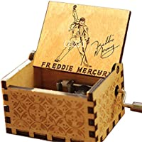 Cuzit Greatest Hits Queen Freddie Mercury Caja de música Antigua Tallada a Mano de Madera Caja Musical Juguete