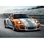 2010 Porsche 911 GT3 R Hybrid Foto-Nachdruck 40x30cm