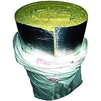 termocoibente refractaria Lana de roca Mineral con Aluminio rollo 24 M2 ...