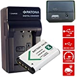 4en1 Cargador PATONA + Bateria para SONY CyberShot DSC-RX100 DSC RX100 NPBX1 NP-BX1 HDR-AS15