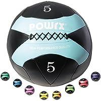 POWRX – Wall Ball Balón medicinal 2 kg, 3 kg, 4 kg, 5 kg, 6 kg, 7 kg, 8 kg, 9 kg, 10 kg - Ideal para ejercicios de FUNCTIONAL FITNESS, core training, POTENCIAMIENTO y TONIFICACIÓN muscular