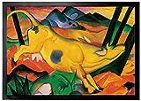 1art1 94766 Franz Marc - Die Gelbe Kuh, 1911 Fußmatte Türmatte 70 x 50 cm