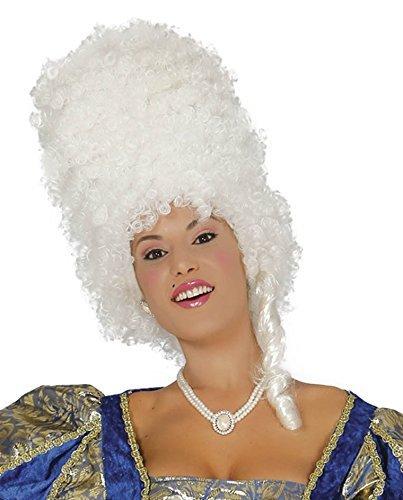 Damen Marie Antionette Weiß Barock Bienenstock Renaissance Period Historisch Kostüm Kleid Outfit Perücke