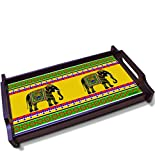 Kolorobia Elephant Motifs Wooden Tray (Medium)