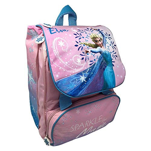 Zaino frozen elsa disney estensibile borsa scuola elementare cm. 40x29x28 - fr0450
