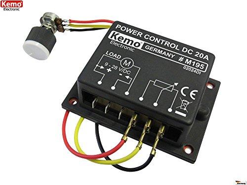 Kemo - Regolatore di carica da 20 A, voltaggio di