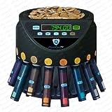 Münzzähler Münzzählmaschine Münzsortierer Geldzählmaschine SR1200 Abhülsung von Securina24® (schwarz - BBB)