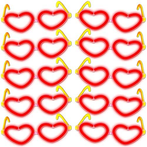 10x Herz - Brille ROT
