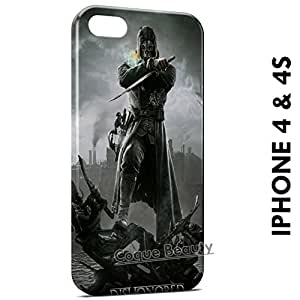 Coque Etui iPhone 4/4S Dishonored étui Housse Case Cover Protection