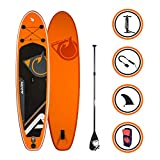 Adrenalin Paddle Gonflable Cruiser 10'2(310 cm) - Stand up Paddle avec dérive Centrale, Support caméra, Pompe Double Action, pagaie, Leash et Sac de Transport Option siège Kayak - Pack Complet