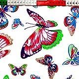 Schmetterlinge 100% Baumwolle Baumwollstoff Kinderstoff