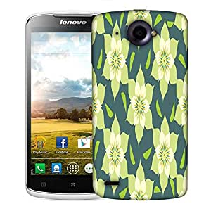 Snoogg Cream Floral Designer Protective Phone Back Case Cover For Lenovo S920