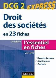 Droit des sociétés DCG 2 - 2e édition - en 23 fiches