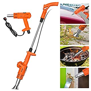 NASUM Weed Burner Electric Weed Killer Thermal Weeding Stick, BBQ Ignitor, Heat Gun - 2000W 230V Up to 650℃, Environmentally Friendly, for Garden, Patio, Driveway, Orange