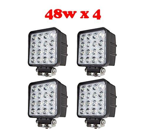 Tanli Feu diurne à LED pour véhicules utilitaires, tout terrain et véhicule de loisirs 48 W 4 pièces
