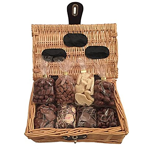 Chocolate Hamper Gift Basket - Perfect Confectionery Present for Him or Her, Husband or Wife, Boyfriend or Girlfriend, Son or