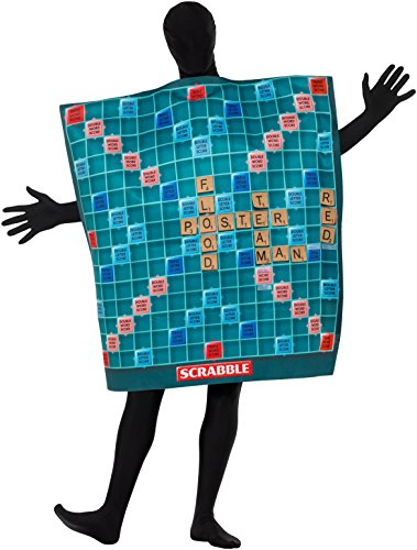 Scrabble Kostüme (SMIFFY 'S 42998M Offizielles Lizenzprodukt Scrabble Board Kostüm, grün, M–UK Größe)