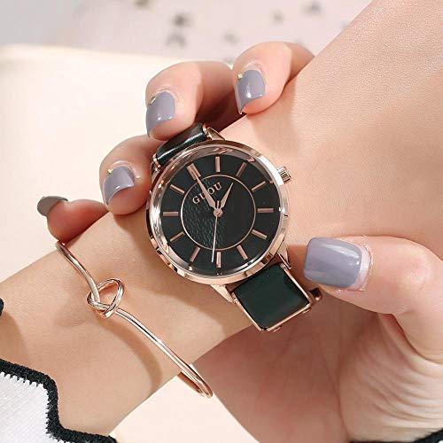 Mode Uhr Neue Einfache Schattierung Skala Temperament Damen wasserdichte Gürtel Uhr Rose Gold