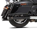Auspuff Schalldämpfer Falcon für Harley Davidson Street Glide (FLHX) 2018 Schwarz