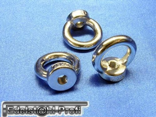 5 Stück Ringmutter DIN582 V2A Edelstahl M8