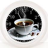 Kaffee Wanduhr 25,4cm Will Be Nice Gift und Raum Wand Decor Y57