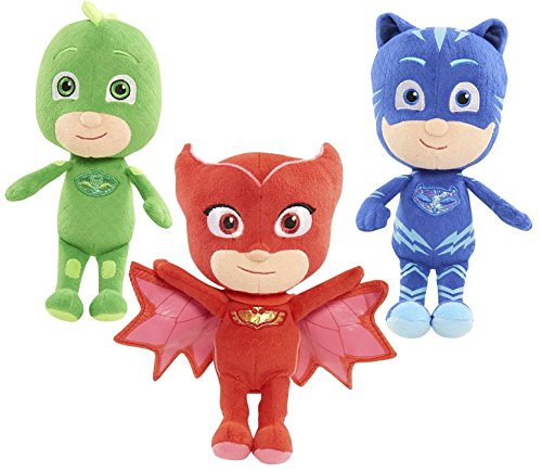 PJ Masks Plush Three Pack Gekko + Owlette + Catboy