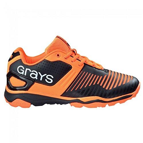 Grays GX 12000Herren 2016Hockey Schuhe-Schwarz/Orange, schwarz/orange