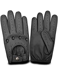 Mens Genuine Leather Fashion Dress Driving Gloves Vintage Retro Classic Soft Leather Gloves