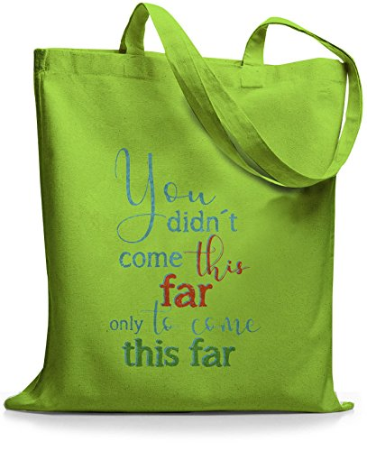 StyloBags Jutebeutel / Tasche You did not come this far Lime