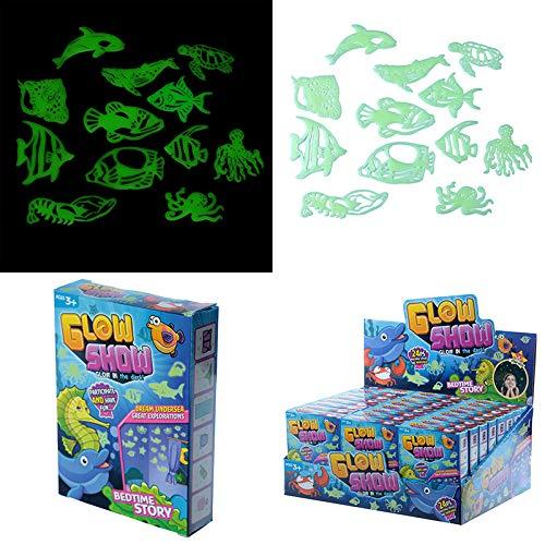 Fun Kids Glow in the Dark Wand Aufkleber-Fisch und Sealife