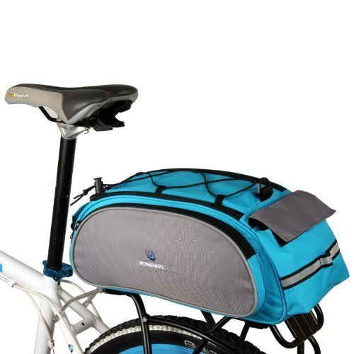 ROSWHEEL Cycling Bicycle Bike Rack Bag BLUE Seat Cargo Bag Rear Pack Trunk Pannier Handbag Back Frame Pannier Backseat Bag Outdoor by Petforu -