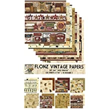 "Paper Pack (24sh 6""x6"") JazzPeriod FLONZ Vintage Paper for Scrapbooking and Craft"