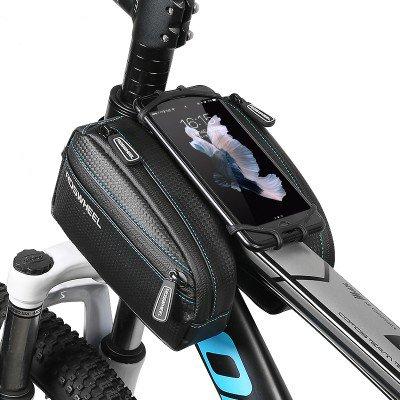 ~ Impermeables Frente De La Bicicleta De Doble Tubo Bolsa Empaqueta con 4,7 A 6,0 Pulgadas Caja del TelãFono para Iphone7