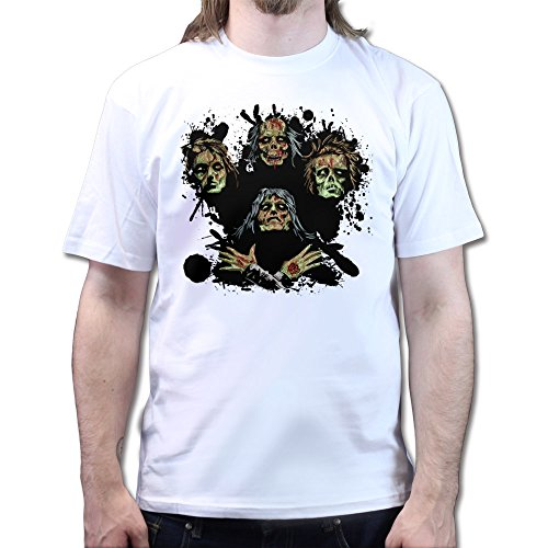 Bohemian Zombies Rhapsody The Queen T-shirt Weiß